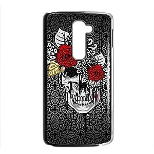 Creative Red Flowers Skull Hot Seller High Quality Case Cove For LG G2