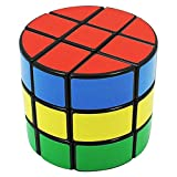 DianSheng Nice ABS Plastic Cylinder Paster 3x3x3 Magic Cube with Black Border /item# R6SG5EB-48Q18331