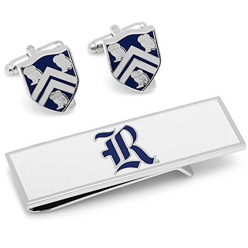 NCAA Mens Rice University Cufflinks and Money Clip Gift Set