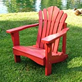 : Shine Co 4516R 19 x 22 x 22 Inch Sanibel Kids Adirondack Chair Red
