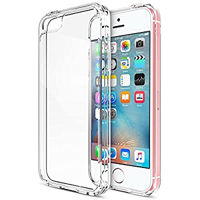 iPhone SE Case, Trianium [Clear Cushion] Protective Clear Bumper For Apple iPhone SE 2016 & iPhone 5S 5 [Scratch Resistant] Seamless integrated Shock-Absorbing Cover Hard Back Panel(lifetime warranty)