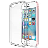 iPhone SE Case, Trianium [Clear Cushion] Protective Clear Bumper For Apple iPhone SE 2018 & iPhone 5S 5 [Scratch Resistant] Seamless integrated Shock-Absorbing Bumper Cover Hard Back Panel - Clear