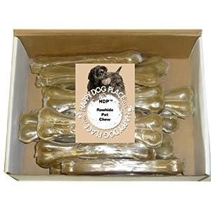 HDP Premium Pressed Rawhide Bone 8″ Size:Pack of 10