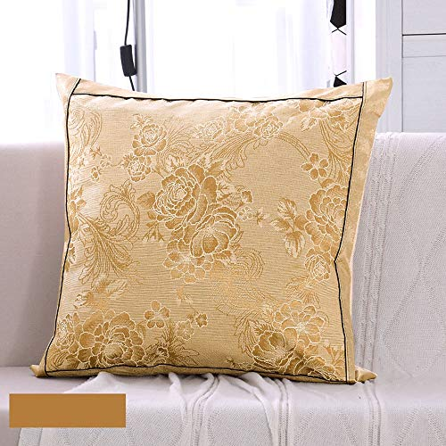 - Nuanxin Ice Silk Pillow with Gold As The Main Tone, But Not Ice, Comfortable, Soft, Natural Ice Silk Products, Environmentally Friendly, Healthy Use, PP Cotton Filling / 6060cm Q10