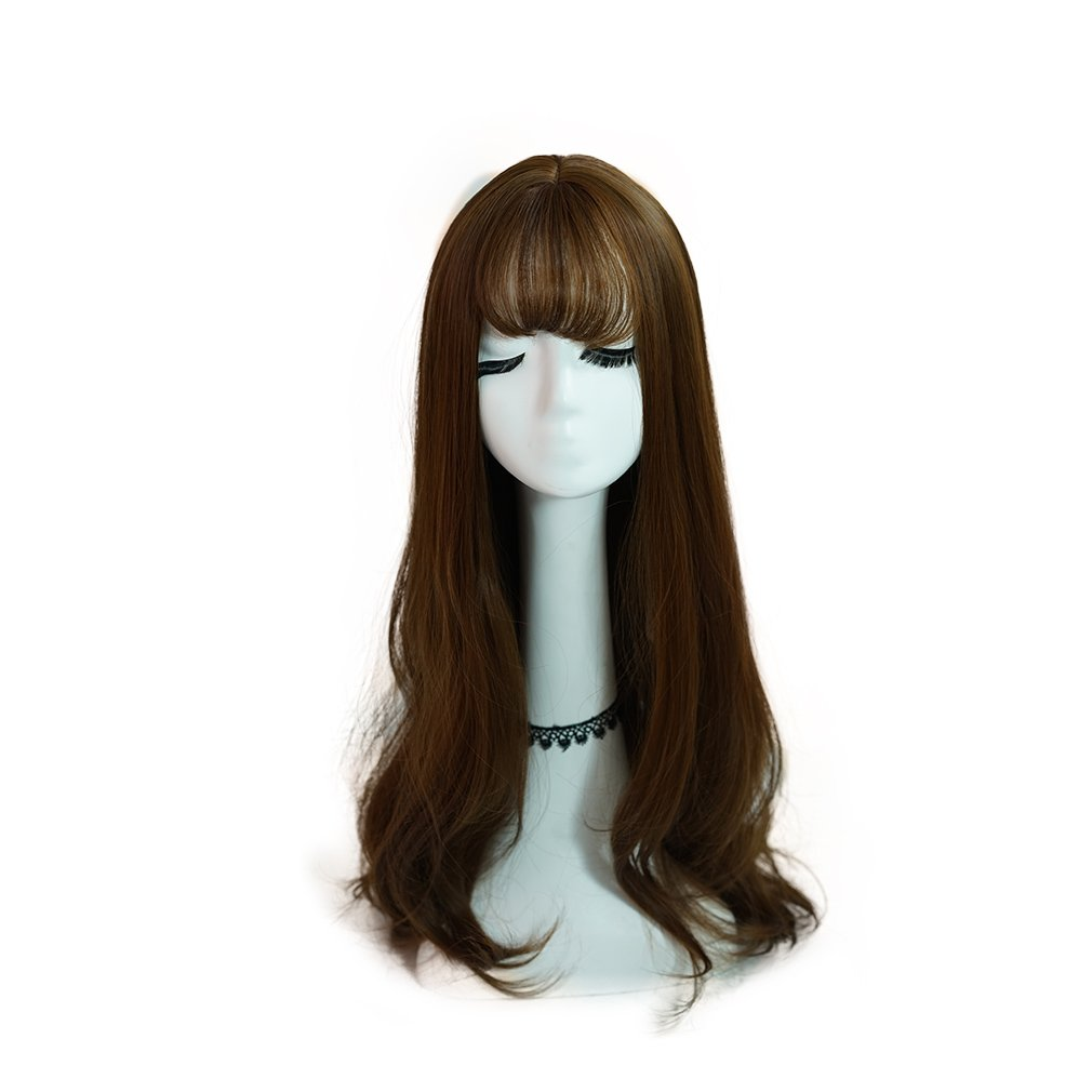 SunshinSusie 31'' Long curly Synthetic Hair Cosplay Full Wig for Women (Light Auburn Brown)