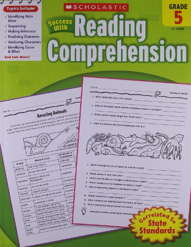 Scholastic Success with Reading Comprehension, Grade 5 cover