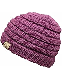 bf45da778d6 CC Kids Baby Toddler Ribbed Knit Children s Winter Hat Beanie Cap