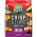 Ritz Crisp & Thins Sweet Chili & Sour Cream Chips, 7.1 Ounce