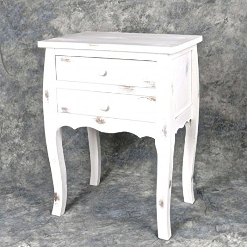 Chabby Chic Decor Style Wooden Night Stand/ Side Table -- Distressed (Chabby Chic)