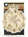 Canvas Corp CVS3397 Burlap Flower, 4-Inch, Ivory