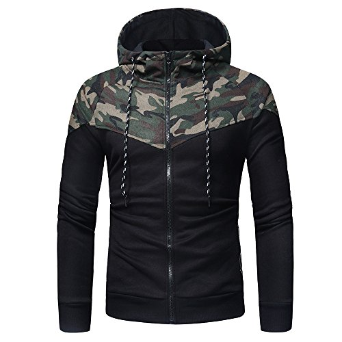 Farjing Sweatshirt for Men,Clearance Sale Men's Long Sleeve Camouflage Print Hooded Sweatshirt Tops Jacket Coat Outwear(M,Camouflage  by Farjing