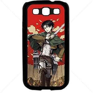 Shingeki no Kyojin Attack on Titan Manga Anime Comic Levi Samsung Galaxy S3 SIII I9300 TPU Soft Black or White case (Black)