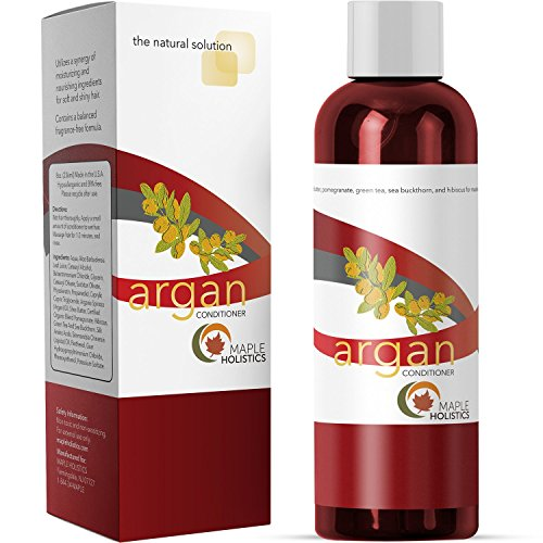 Argan Oil Conditioner - Purest Formula - Natural Treatment for Dry and Damaged Hair - Sulfate Free, Silicone Free, Cruelty Free - Men and Women - Made in USA By Maple Holistics