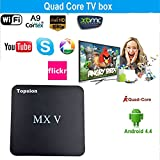 Tops MXV Android TV BOX Amlogic S905 Quad-core Mini PC Streaming Media Player DDR3 2GB/ROM 8GB