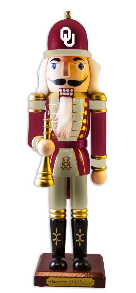 One Size Multicolor NCAA The University of Oklahoma Christmas Nutcracker Ornament