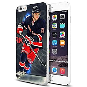 Hockey NHL Marian Gaborik, New York Rangers, , Cool iPhone 4/4s (6+ , ) Smartphone Case Cover Collector iphone TPU Rubber Case White [By PhoneAholic]