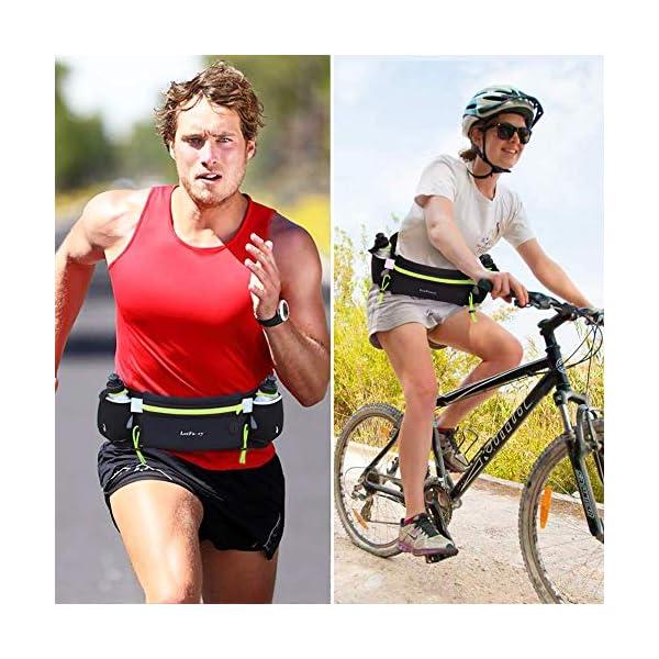 LotFancy Ceinture de Course Hydratation Running Belt avec 2 Gourdes de 180ml sans BPA Confortable et Respirante…