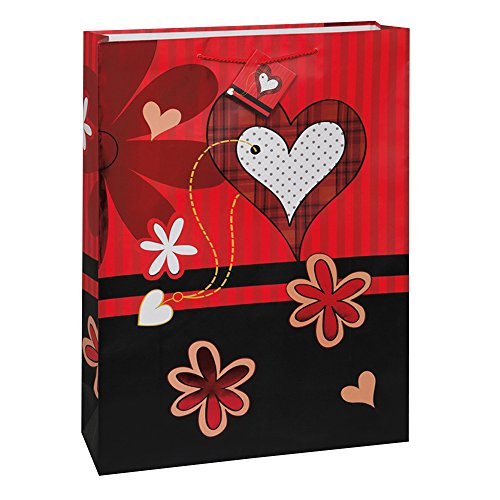 Large Flower Hearts Valentine's Day Gift Bag