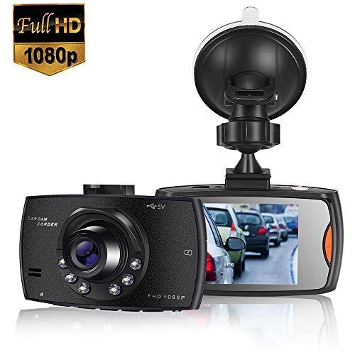 🥇 MASOMRUN Cámara de Coche 1080P Full HD Dash CAM 2.4 Pulgada LCD Conducir Grabadora 170°Ángulo con WDR