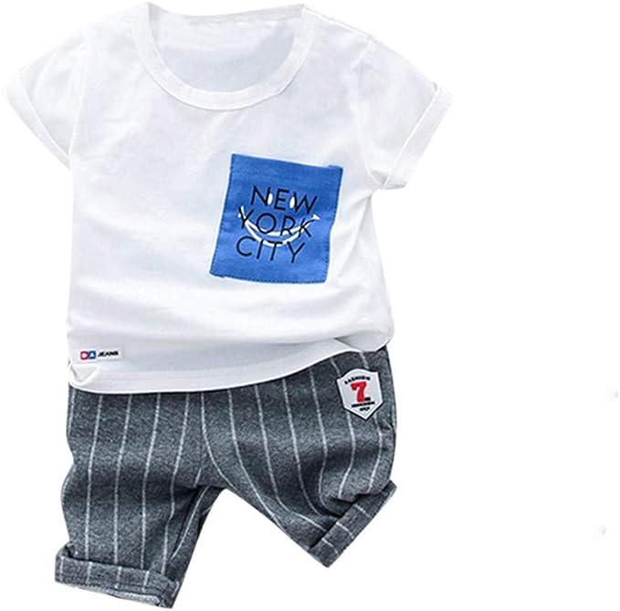 Chanjywe - Conjunto de Ropa de bebé para niño y niño, Manga Corta ...