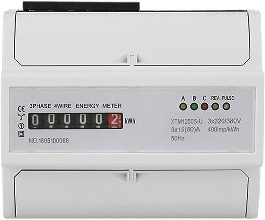 A 1Pcs 220V M/ètre /Électronique KWh M/ètre 2P DIN-Rail Compteur D/énergie LCD Monophas/é Wattm/ètre 5 30