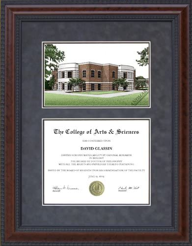 Amazon Com Wordyisms Diploma Frame With Licensed Mercer University Campus Lithograph Sports Fan Diploma Frames Clothing