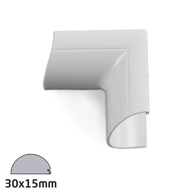 D-Line Clip-Over Door Top Bend white 30x15mm Bag of 5