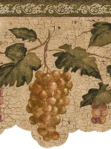 wine and grape border - 6