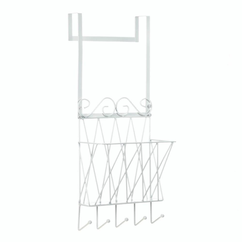Door Hanger Rack, Bedroom Bathroom Hanging Over Door Rack Organizer With Hooks