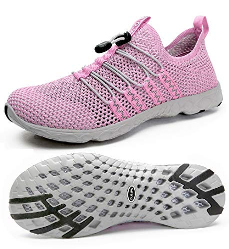 DLGJPA Women's Quick Drying Water Shoes for Beach or Water Sports Lightweight Slip On Walking Shoes Purple
