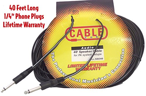 - Performance Plus 40' Molded End Speaker Cable (SSC40)