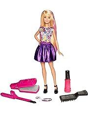 Barbie - Muñeca Ondas y rizos , muñeca para peinar (Mattel DWK49)