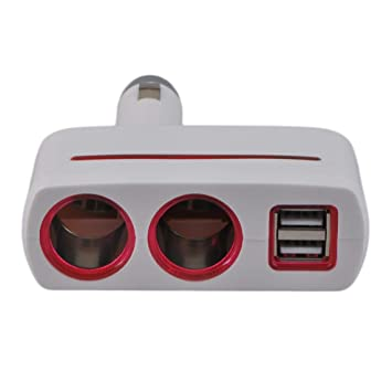 Footprintse DC5V 800mA One-Divided-Two con USB Car Cigarette ...