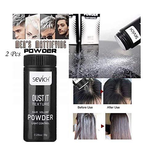 Wanzi2 Hair Mattifying Powder Create Natural Fluffy Hair,Hair Volumizing Mattifying Powder Fiber Hairspray Best Dust,Suit for Men Women (Black 2Pcs) from Wanzi2