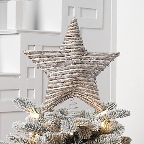 Rattan Christmas Star Tree Topper product image