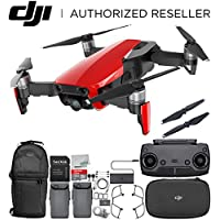 DJI Mavic Air Drone Quadcopter (Flame Red) Backpack Essential Bundle