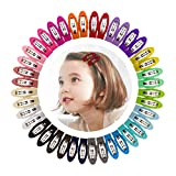 Best Barrettes For Toddlers - 40pcs 2 Inch Non-Slip Snap Clips Hair Barrettes Review