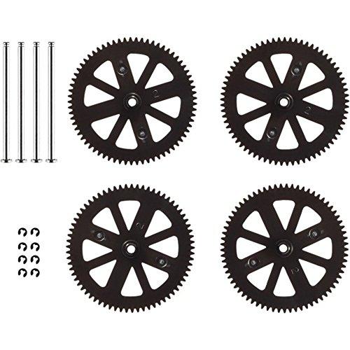 PARROT 070047AA Gears & Shafts, Set of 4 (Shaft Blank)