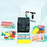 3x3x3 CubeTwist Bandaged DIY Tiled Kit Black CT 3x3 Puzzle Toy Twisty Gift