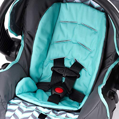 51W7lPOsZyL - Evenflo Vive Travel System With Embrace Infant Car Seat, Spearmint Spree