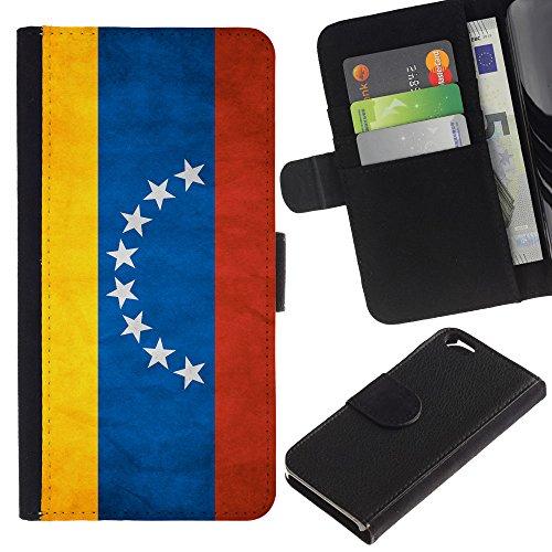 EuroCase - Apple Iphone 6 4.7 - Venezuela Grunge Flag - Cuir PU Coverture Shell Armure Coque Coq Cas Etui Housse Case Cover