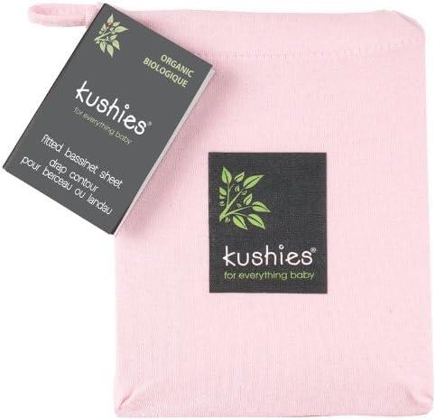 Kushies Organic Jersey Bassinet Fitted Sheet, Light Pink by Kushies
