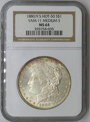 1880 S Morgan Vam-11 Hot 50 $1 MS64 NGC