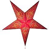Happy Sales HSSL-FPSLRD, Taj Mahal Paper Star Lantern Red Yellow