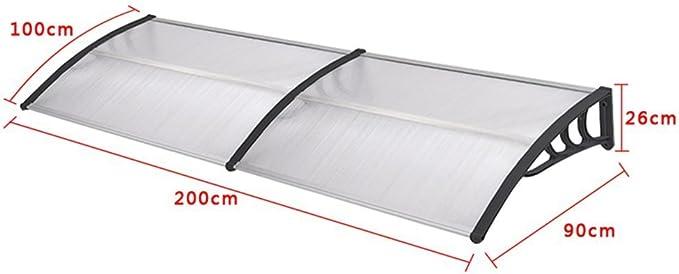 Nero SAILUN 200 x 90 cm Tenda da sole Ingresso Tettoia Tenda a baldacchino Tenda esterna
