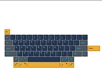 Amazon Com Domikey Hhkb Abs Doubleshot Keycap Set Atlantis Blue