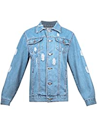 Ivan Johns Warm Denim Winter Long Sleeves Jackets Jeans Lapel Tops Basic Pocket Single Breasted Casual