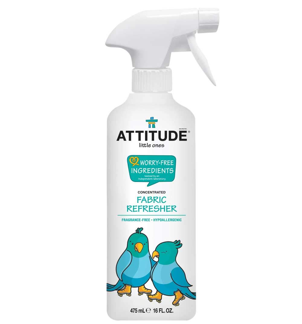 ATTITUDE Little Ones, Hypoallergenic Concentrated Fabric Refresher, Fragrance Free, 16 Fluid Ounce