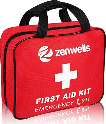 First Aid Kit Best for Emergency and Disaster Preparedness - 192 Deluxe Life-Saving Medical Supplies for Camping, Home, Car, Survival or Office - Travel Trauma Kits to Keep Your Family Safe