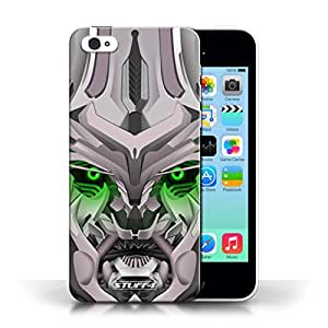KOBALT? Protective Hard Back Phone Case / Cover for Apple iPhone 5C   Mega-Bot Green Design   Robots Collection by lolosakes
